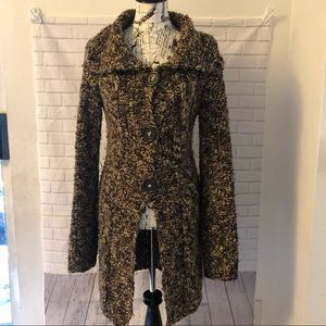 Free People long chunky knit cardigan button down